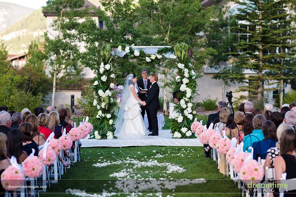 Larkspur Lawn Wedding Ceremony