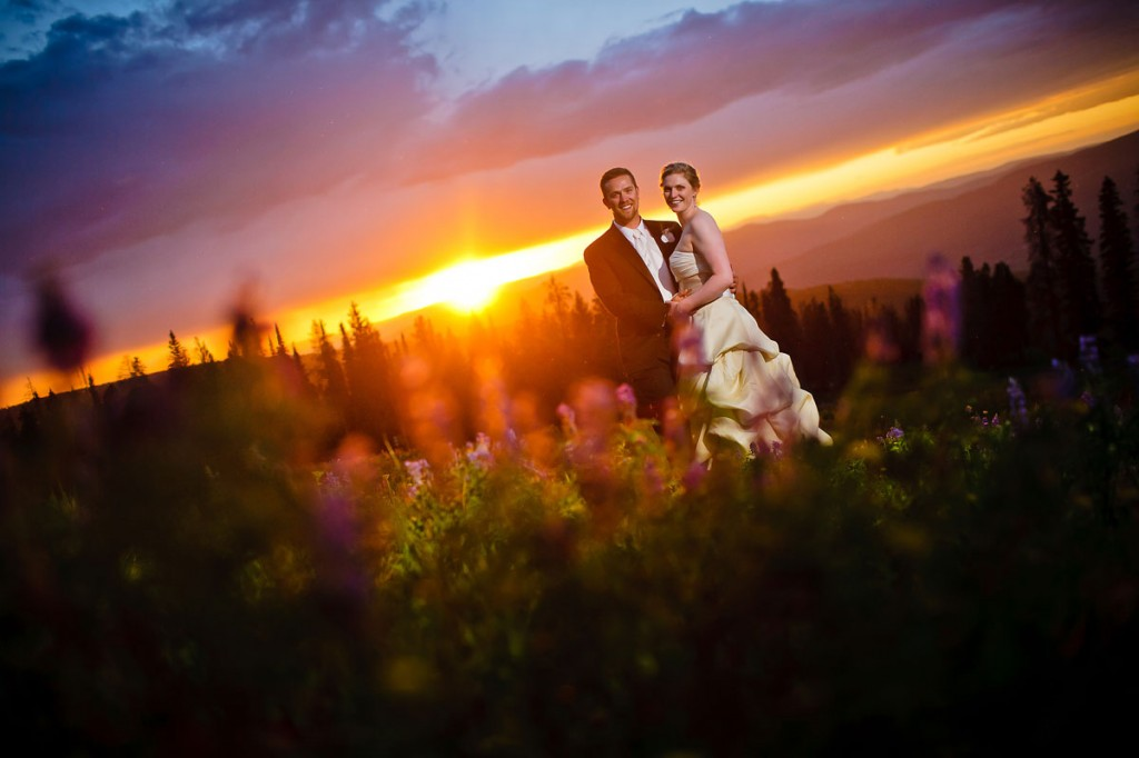 Beaver Creek mountain wedding at sunset