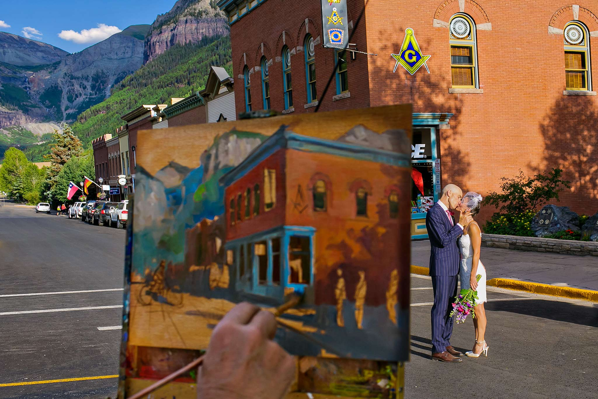 Wedding in downtown Telluride