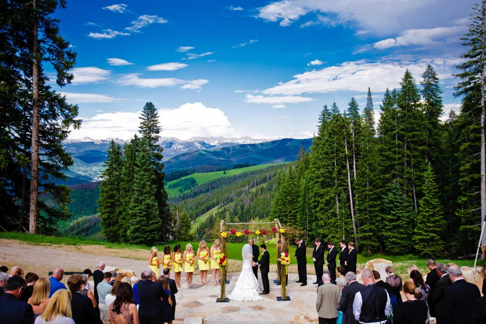Summer Wedding at the Beaver Creek Wedding Deck