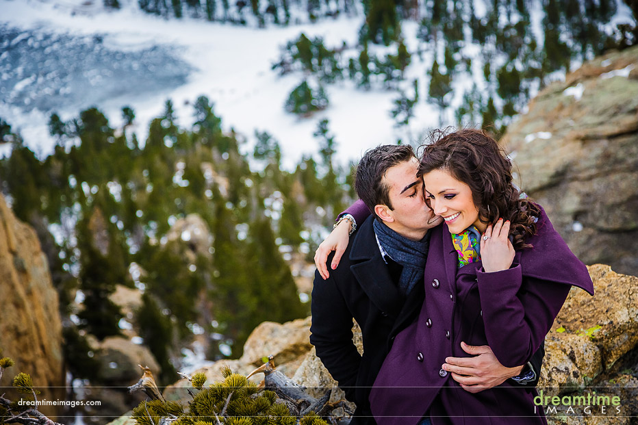 colorado engagement pictures snow