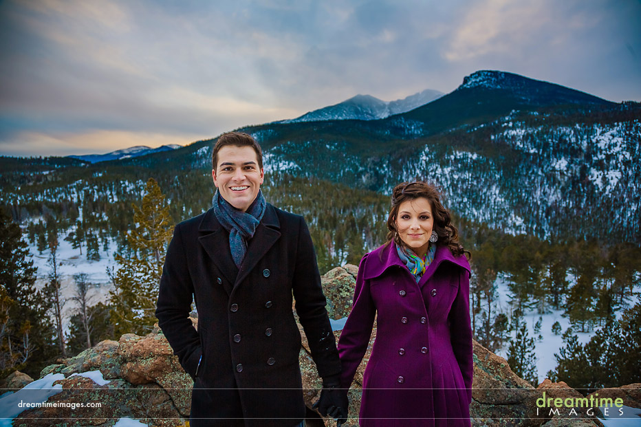 colorado winter engagements