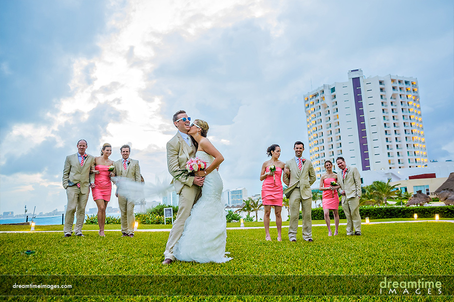 bridal party, dreams cancun