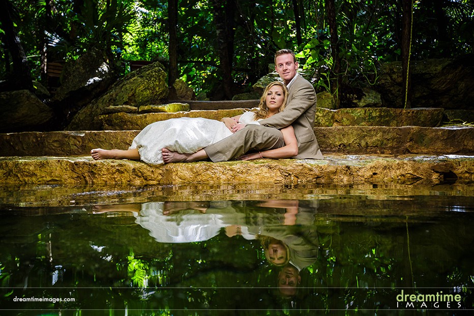cenotes mexico trash the dress