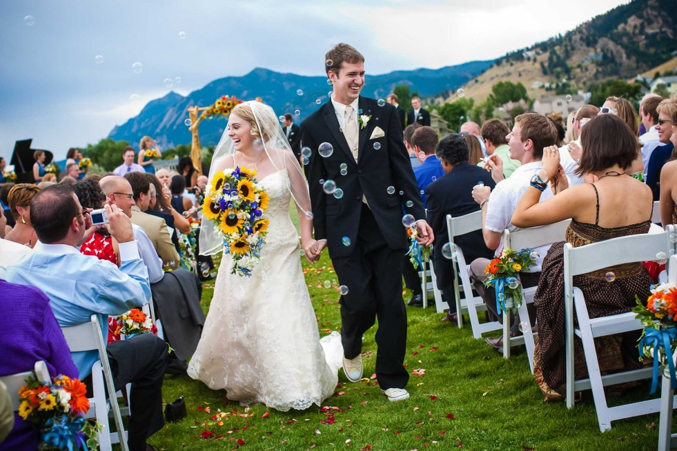 Outdoor wedding in Boulder, CO