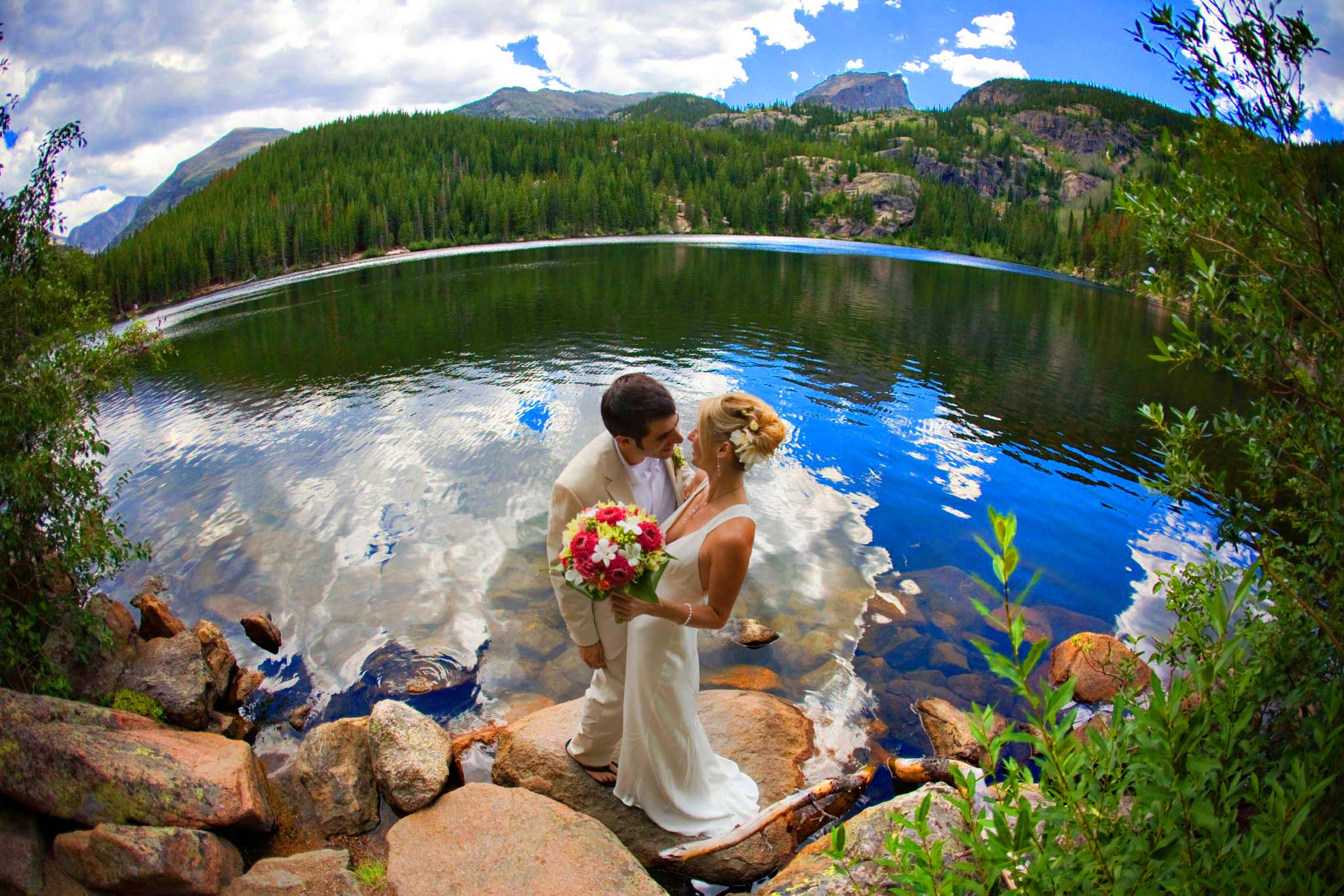Bear Lake wedding in Rocky Mountain National Park