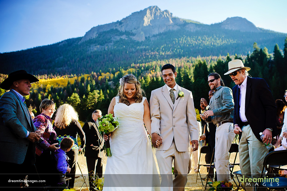 Wedding ceremony at Historic Hydroplant in Estes Park