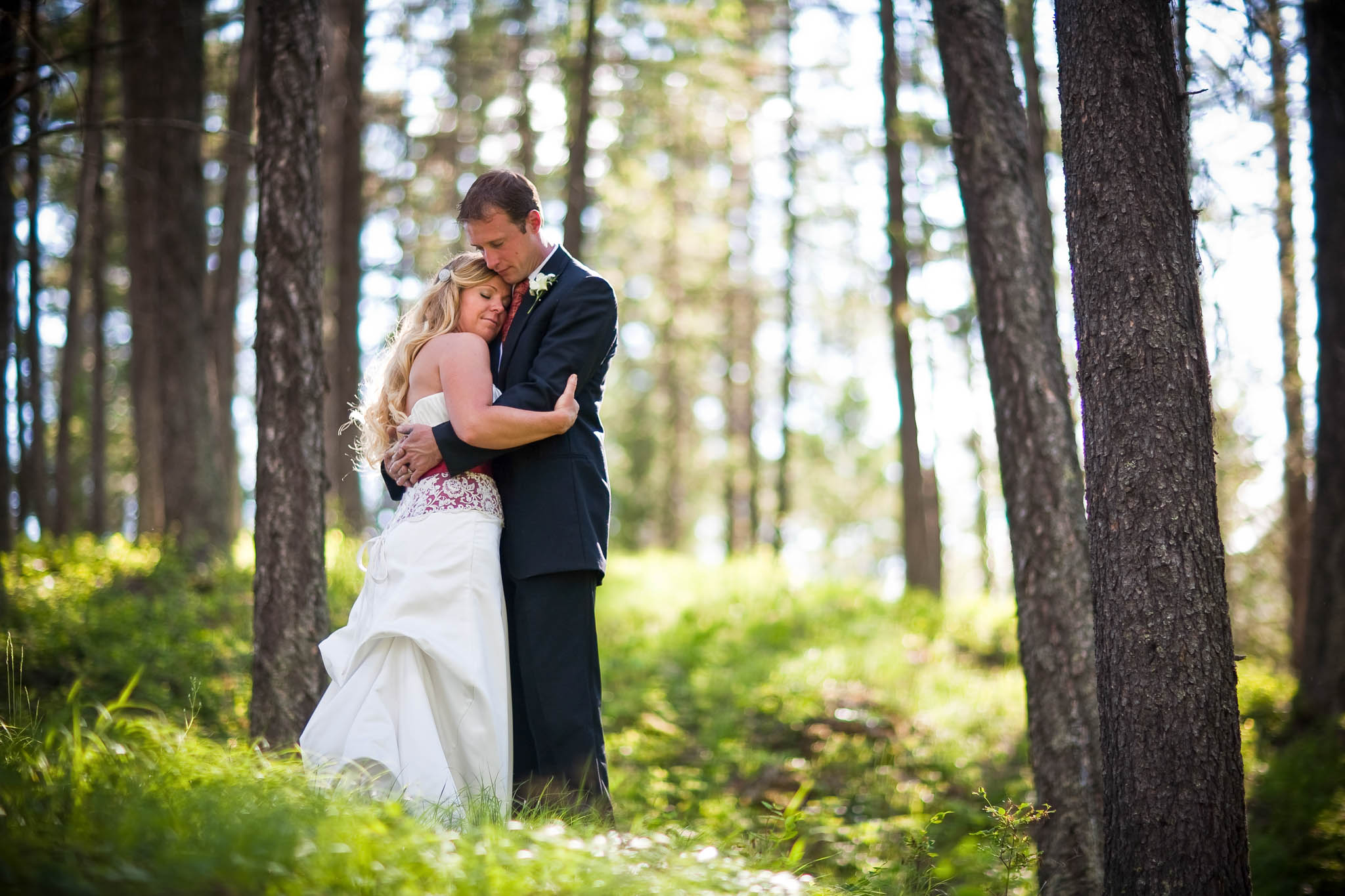 Wedding at Holland Lake, Montana