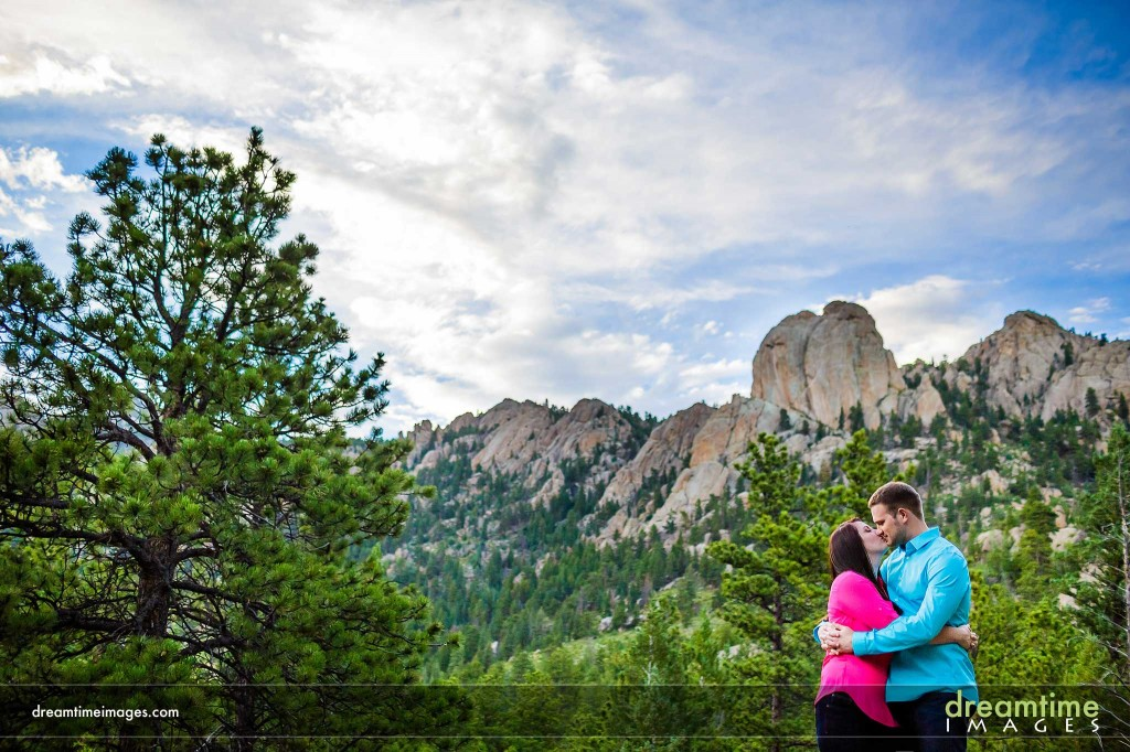 Engagement photo in RMNP