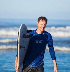 Surfer in Playa Jaco
