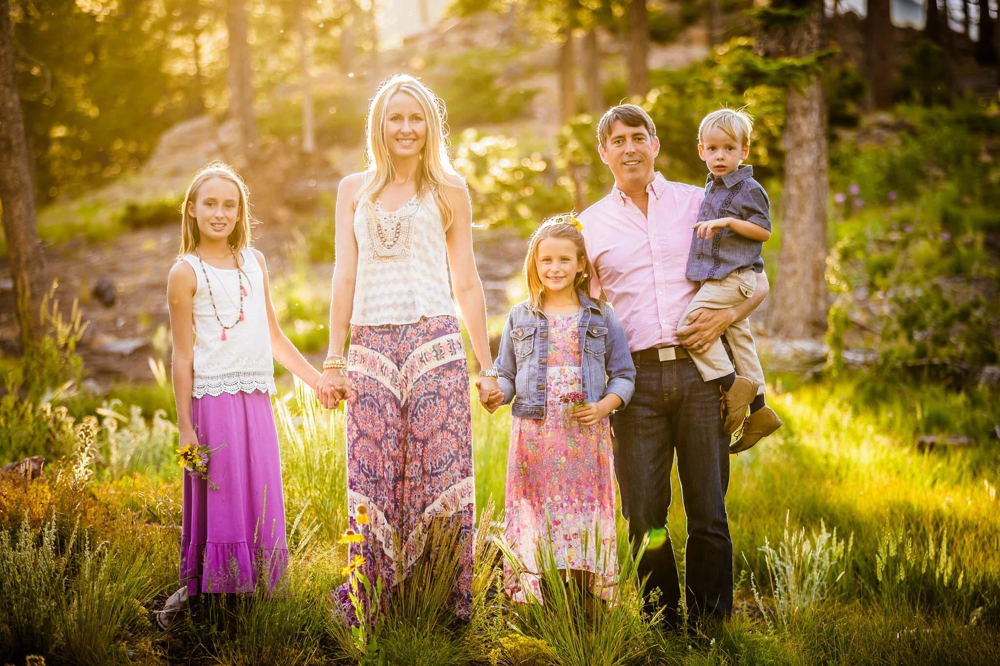 Family photography at Lily Lake near Estes Park, CO