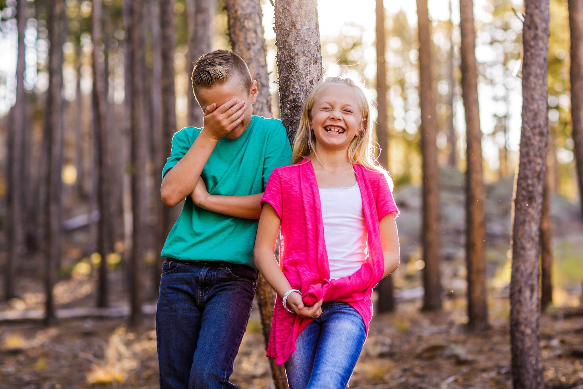 Kid photos in Estes Park, CO