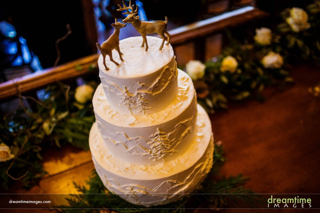Wedding cake by Sugar in Breckenridge