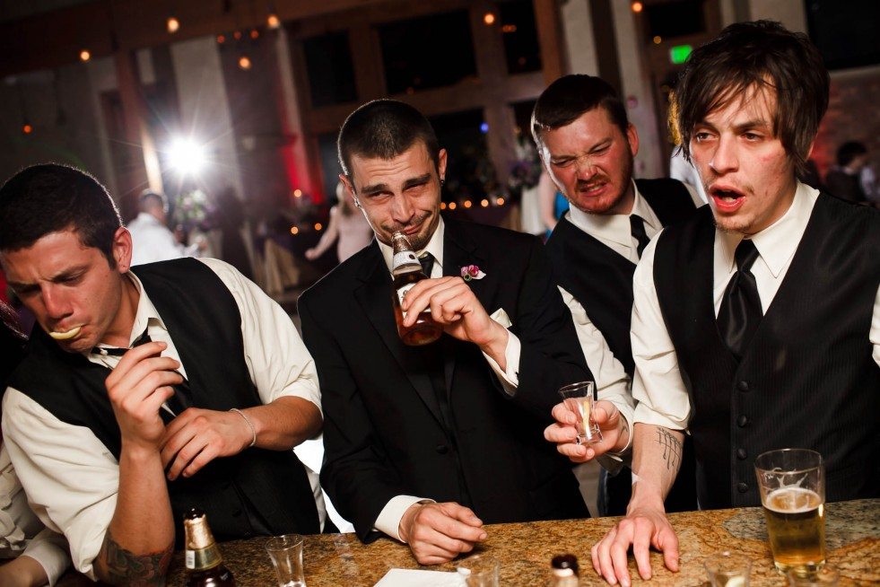 Groomsmen during reception at Della Terra Mountain Chateau