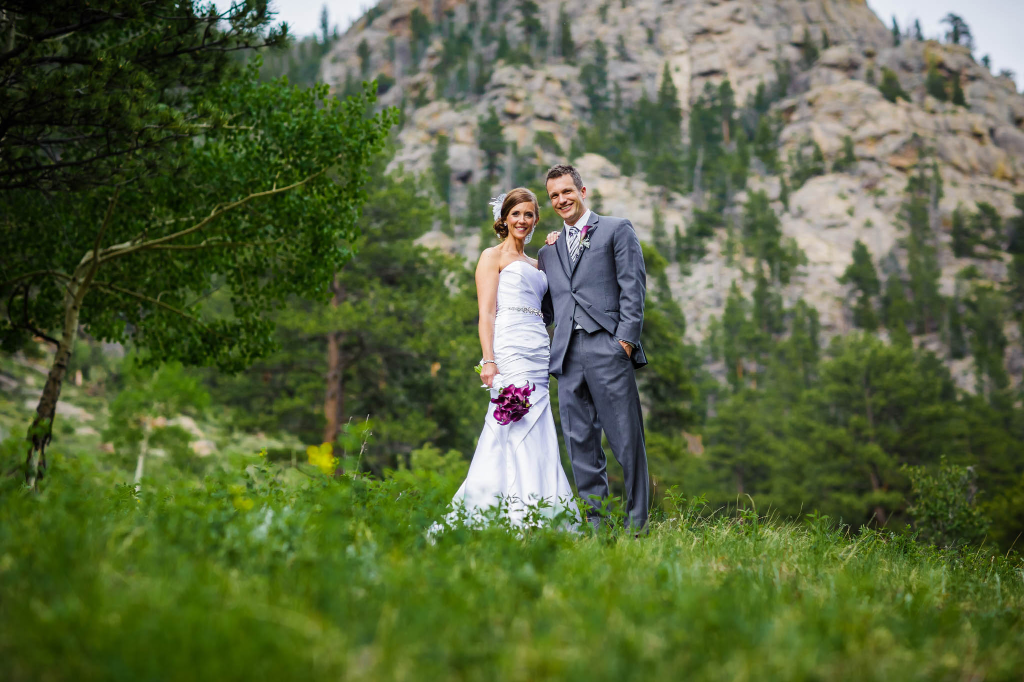 Bride and Groom at Della Terra in Estes Park