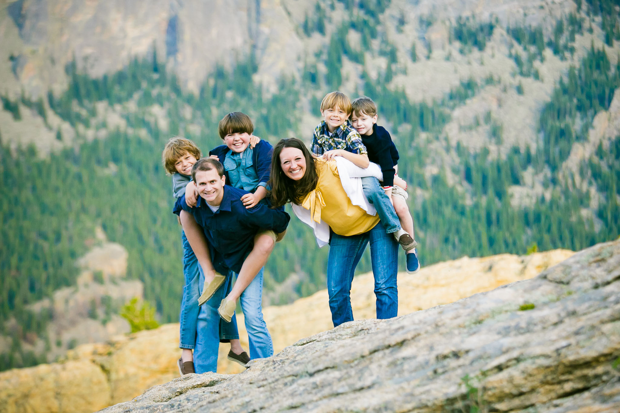 Family in Rocky Mountain National Park