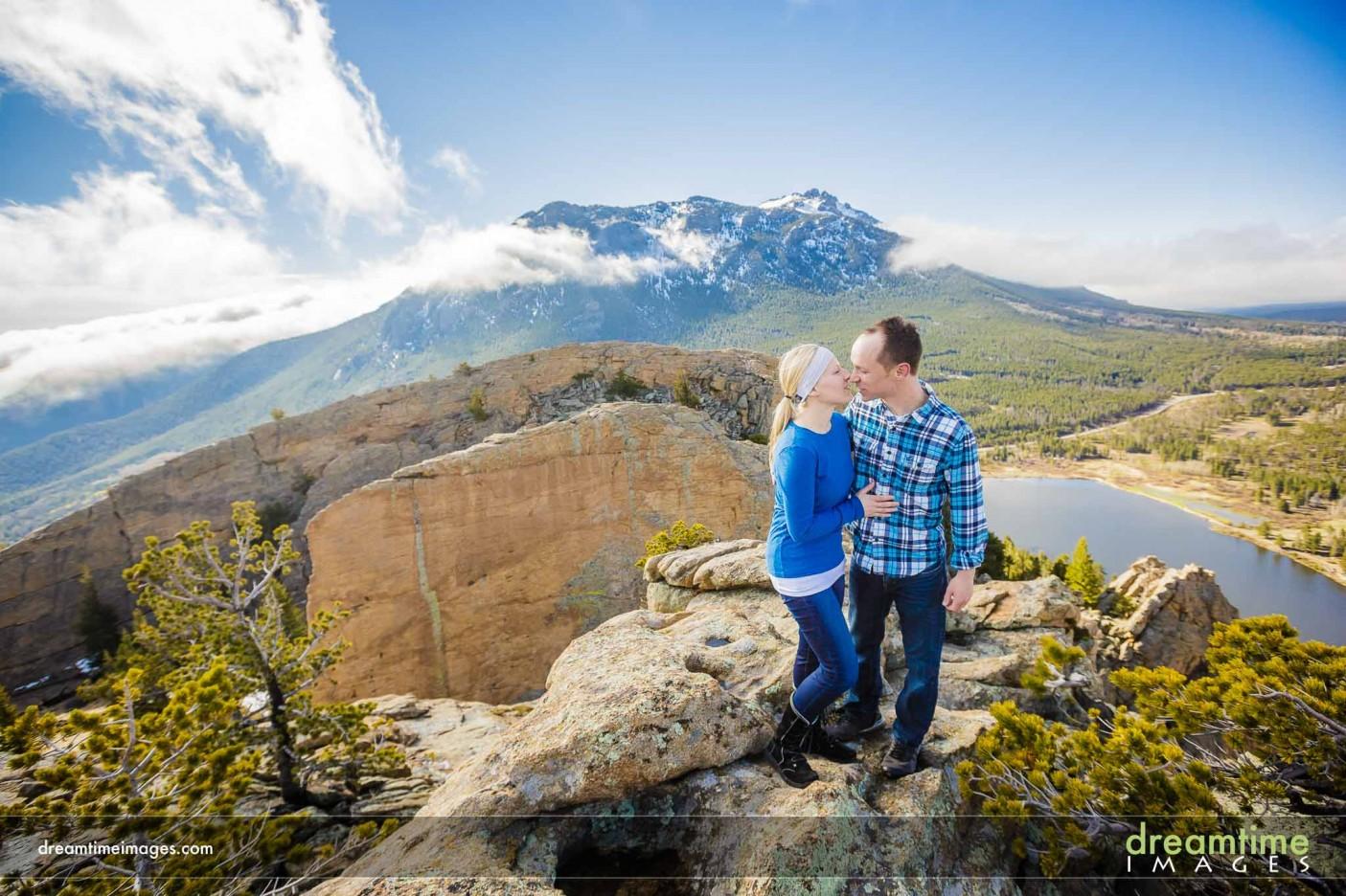 Engagement photos in RMNP