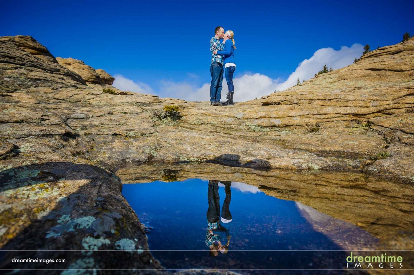 Reflection engagement photo in Estes Park