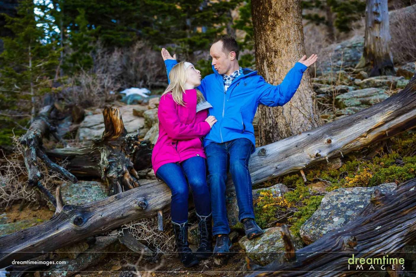 Engagement photos in Estes Park
