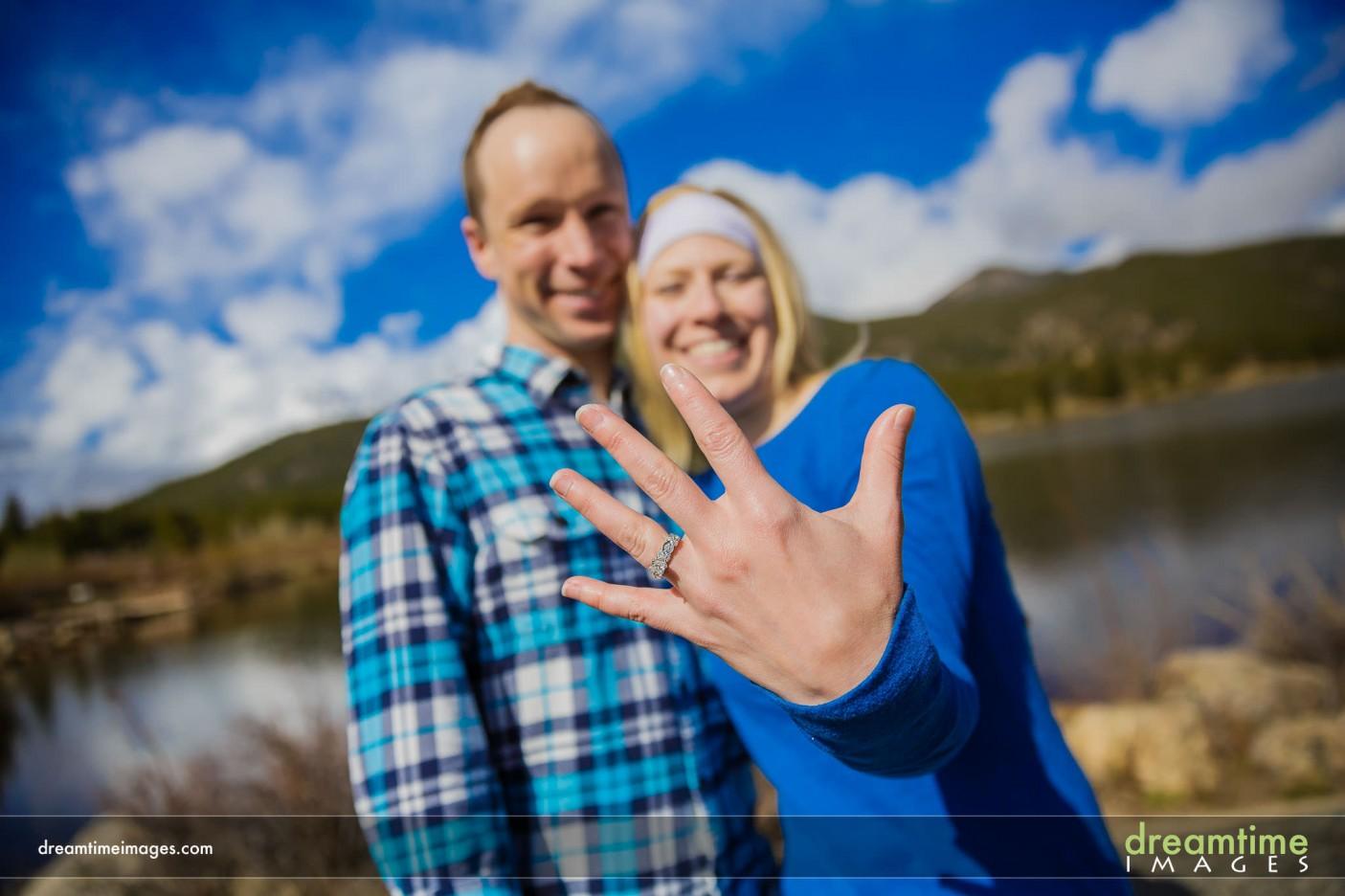 Wedding ring proposal Estes Park