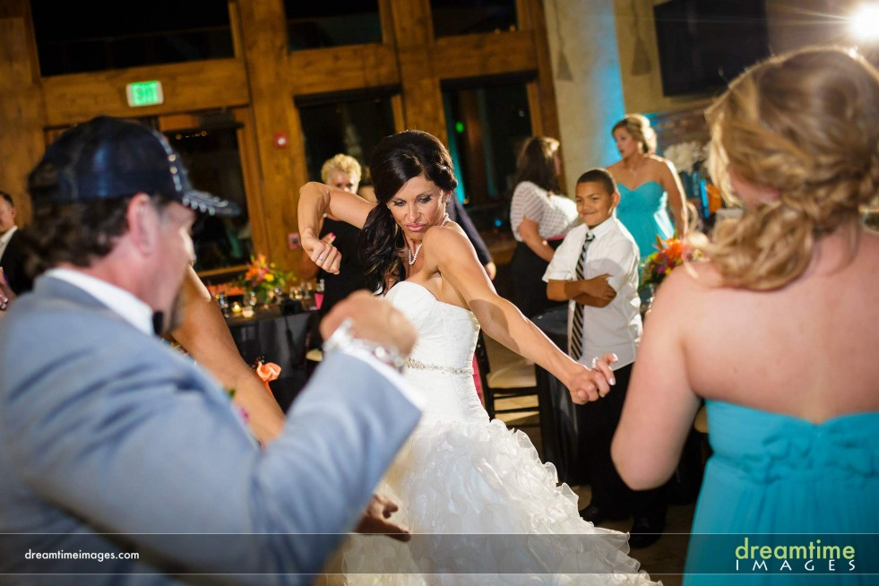 Wedding guests dancing at Della Terra