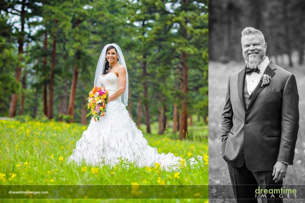 Bride and groom in Della Terra