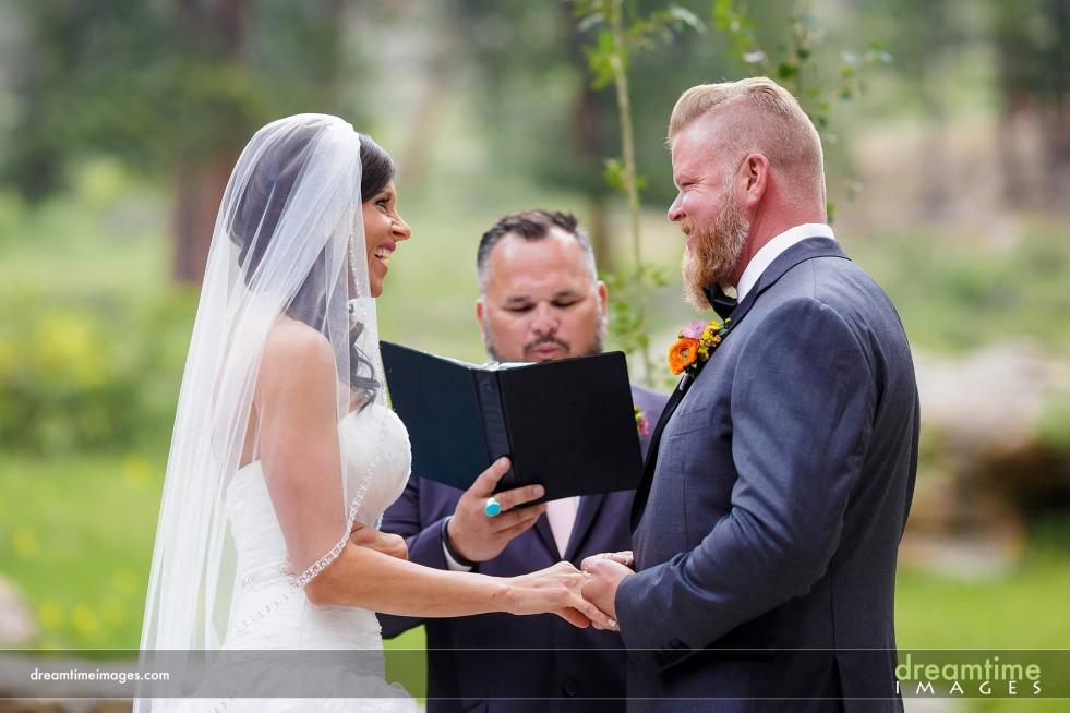 Wedding ceremony in Estes Park