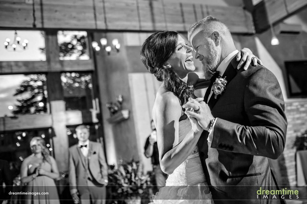 Bride and groom's first dance at Della Terra
