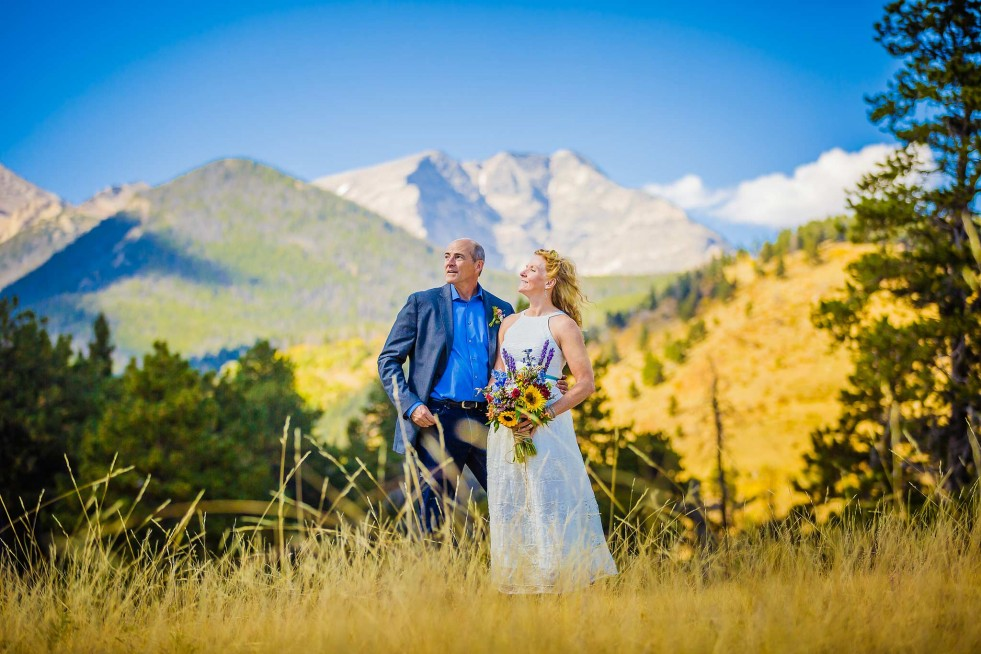 RMNP wedding couple in Endo Valley