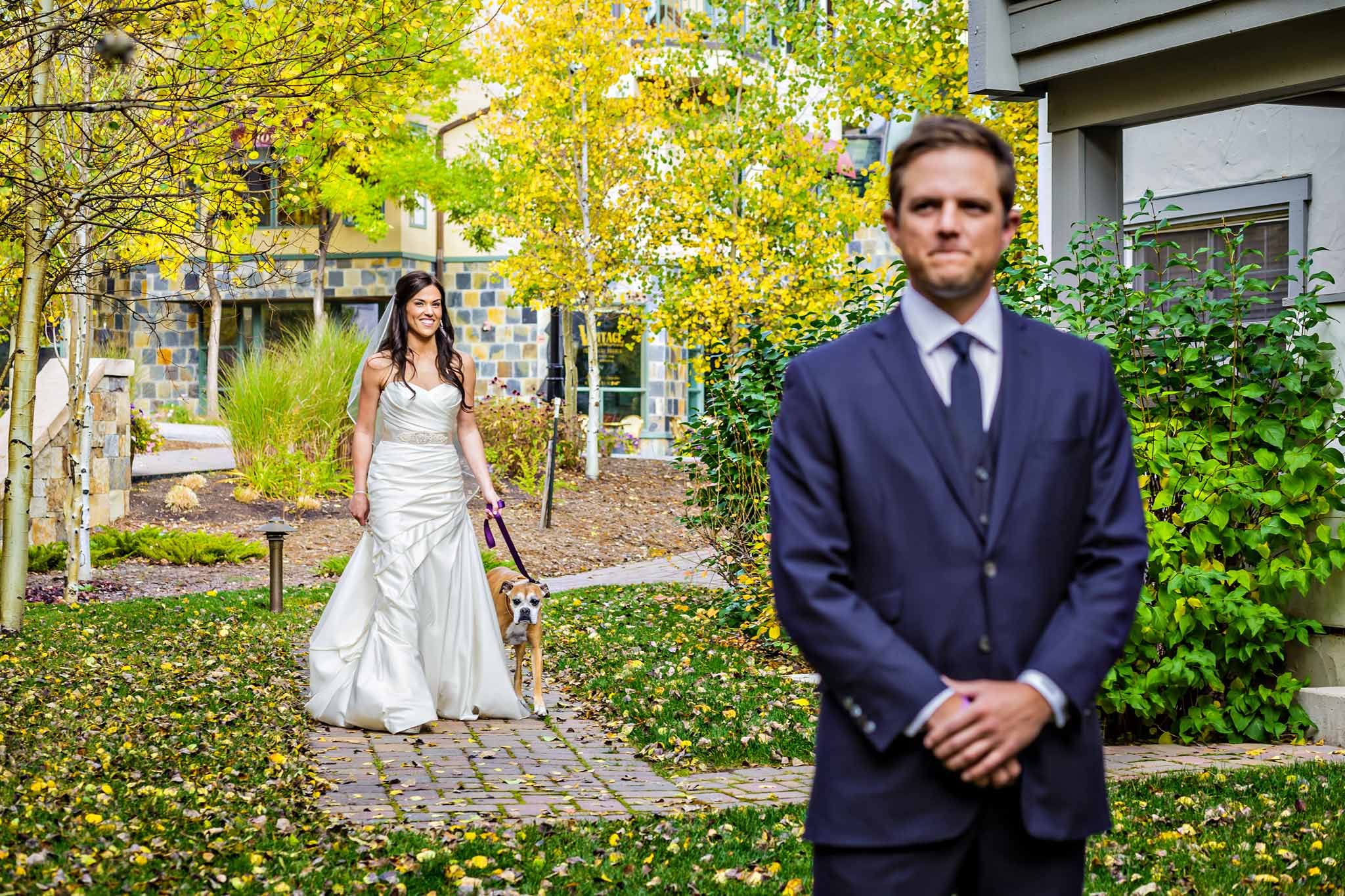 Wedding portrait garden at Four Seasons Vail