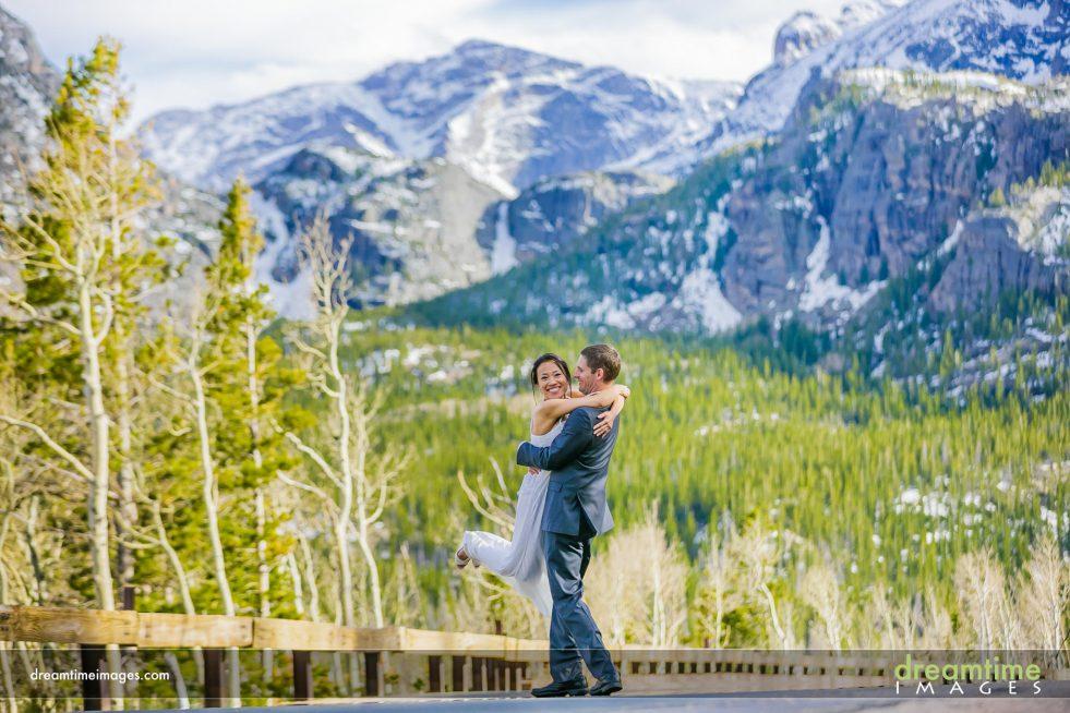Wedding portrait on bear lake road