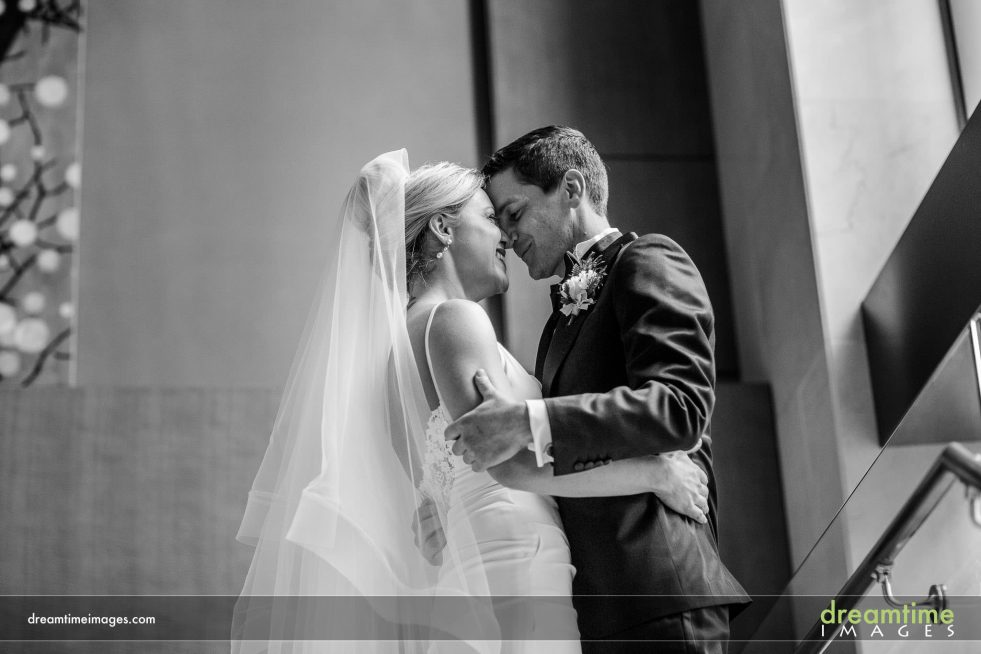 bride and groom in denver wedding