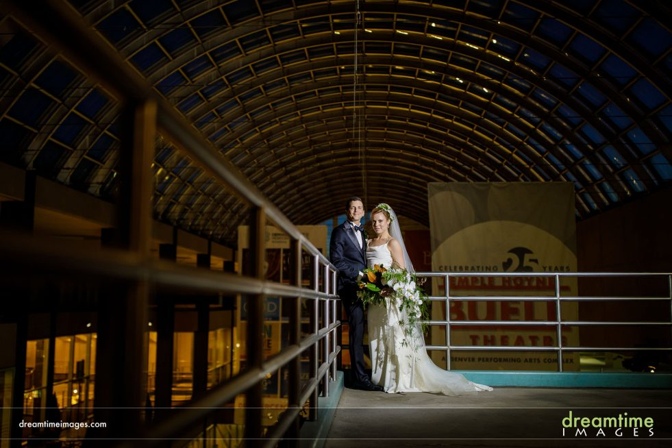 wedding portrait in denver performing arts complex