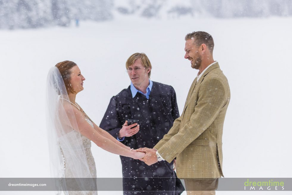 Wedding ceremony at Bear Lake in RMNP