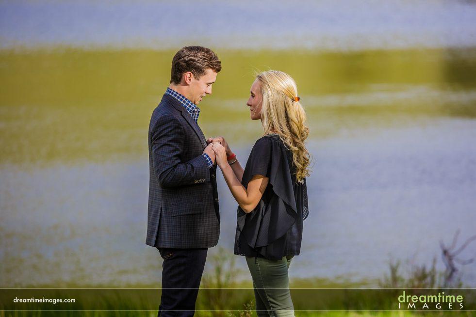 Marriage proposal at Lily Lake