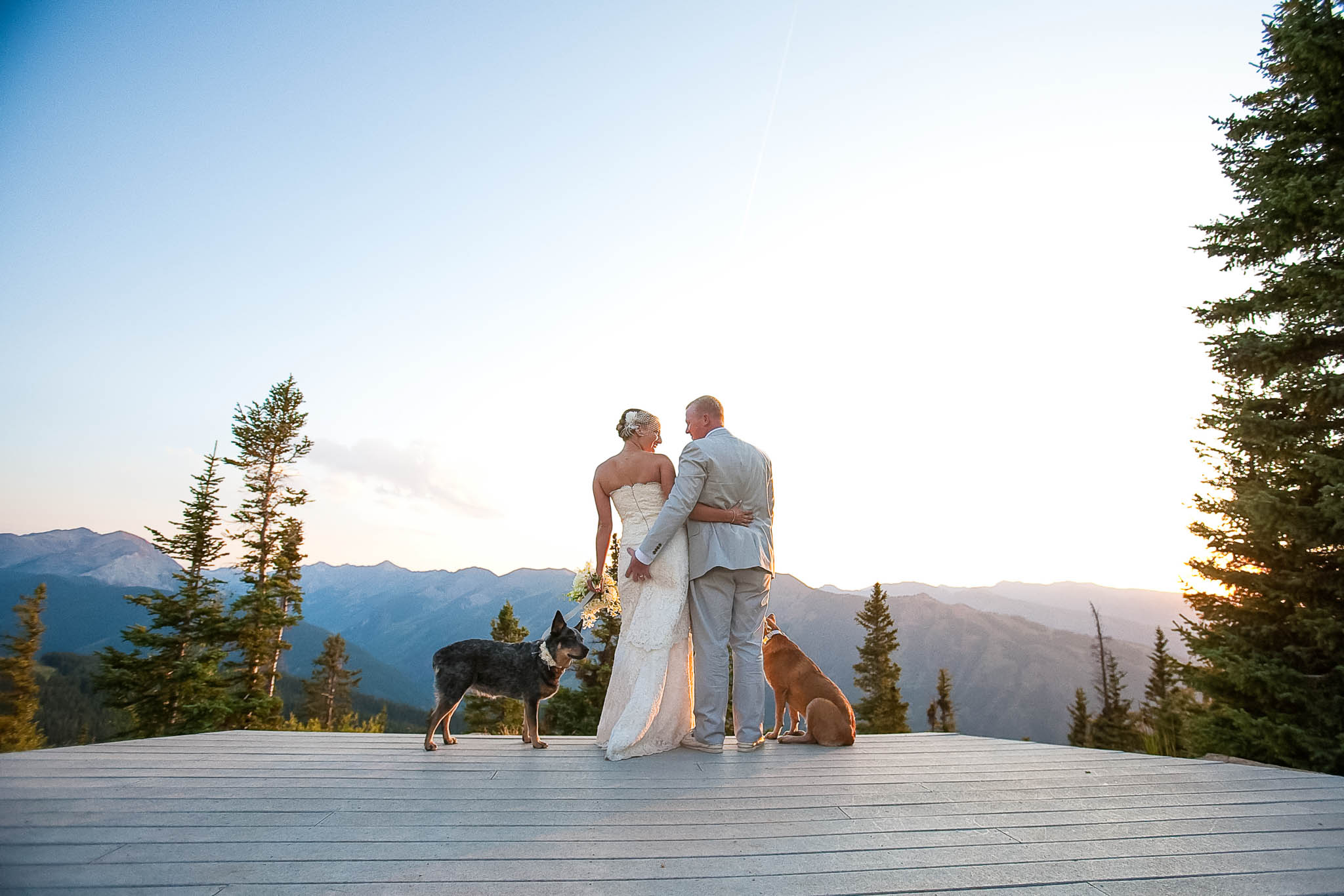 Wedding Deck On Aspen Mountain