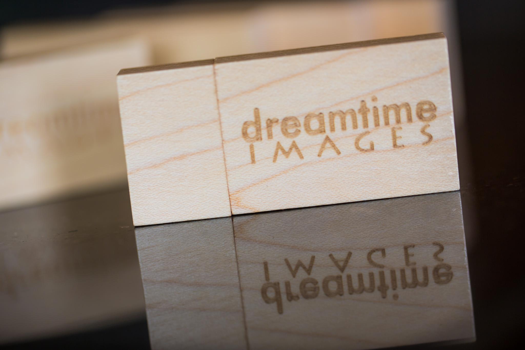 Logo laser etched on pine