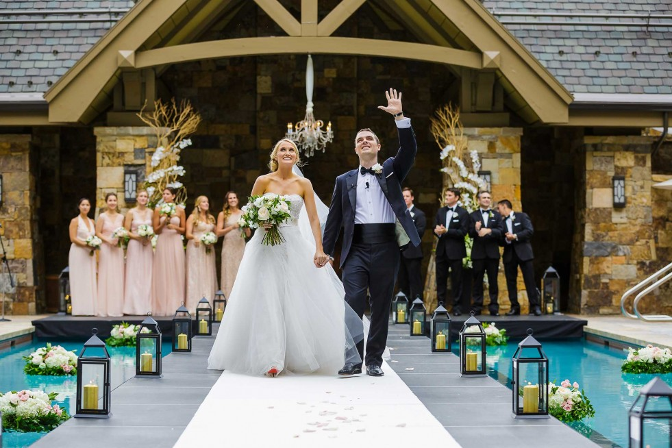 Four Seasons Vail Pool Wedding Ceremony